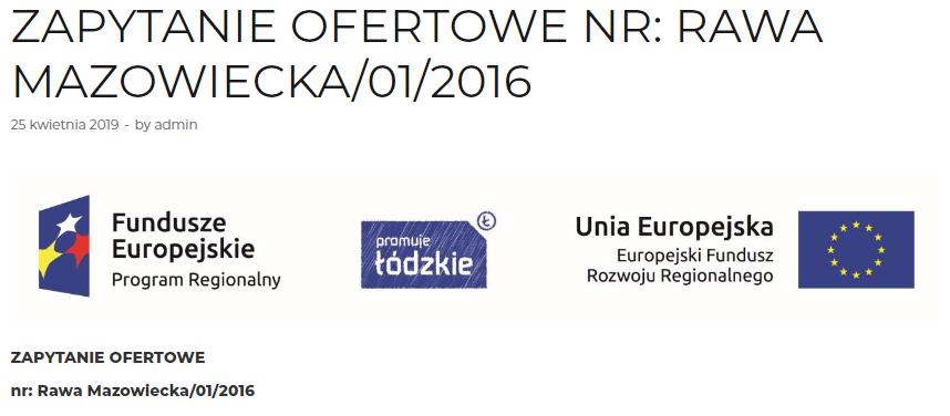Zapytanie Ofertowe NR: Rawa Mazowiecka/01/2016 7