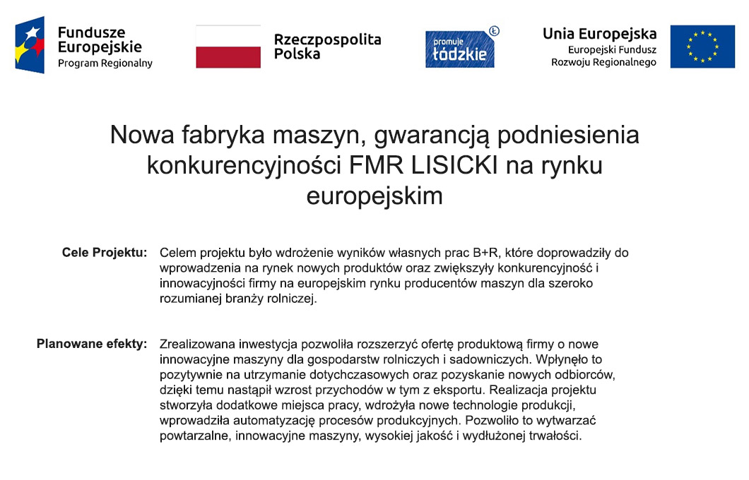 Nowa fabryka maszyn, gwarancją podniesienia konkurencyjności FMR LISICKI na rynku europejskim 5